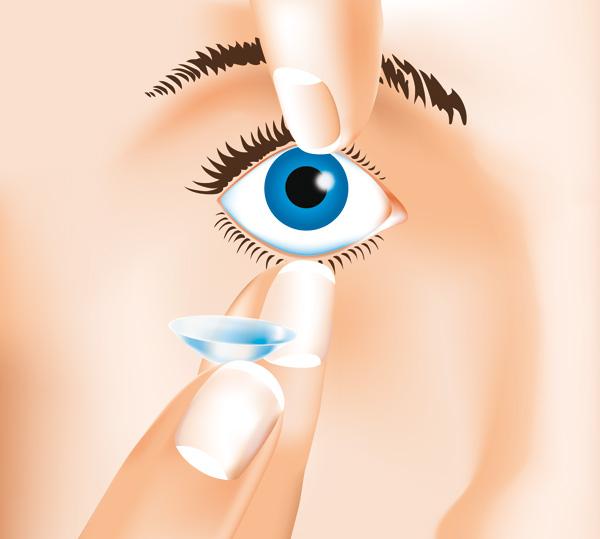 Kontaktlinsen Aufsetzen 1