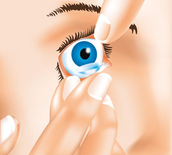 Kontaktlinsen Aufsetzen 2