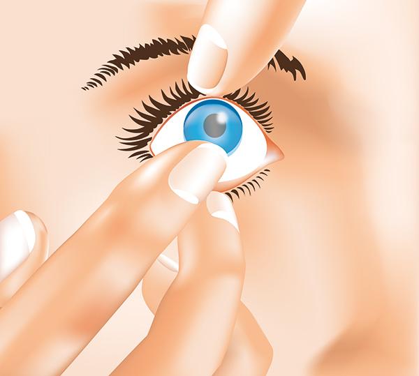 Kontaktlinsen Herausnehmen 1