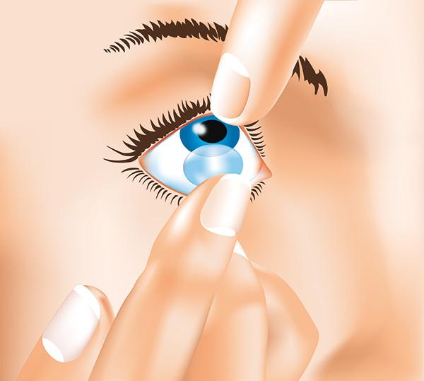 Kontaktlinsen Herausnehmen 2