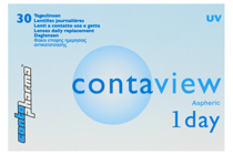 Contaview aspheric 1day UV