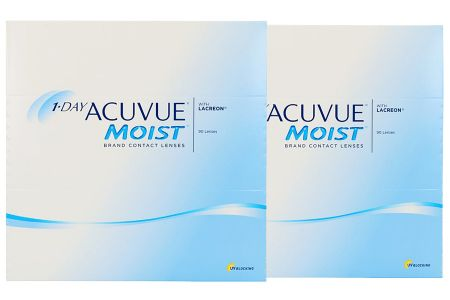 1-Day Acuvue Moist 2 x 90 Tageslinen Sparpaket 3 Monate