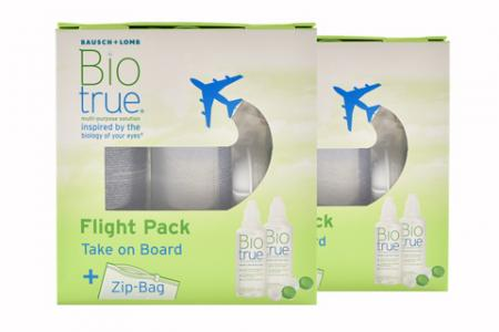 Biotrue 2 x Flight-Pack Doppelpack All-in-One Lösung