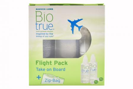 Biotrue 2 x 60 ml Flight-Pack Doppelpack All-in-One Lösung