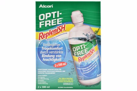Opti-Free Replenish Doppelpack 2 x 300 ml All-in-One Lösung | Opti-Free Replenish 2 x 300 ml