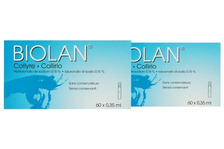 Biolan 2 x 60 x 0.35 ml Augentropfen | Biolan Augentropfen 2 x 60 x 0.35 ml