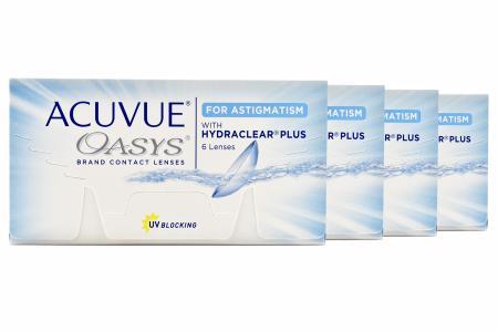 Acuvue Oasys for Astigmatism, 4 x 6 Stück Kontaktlinsen von Johnson & Johnson
