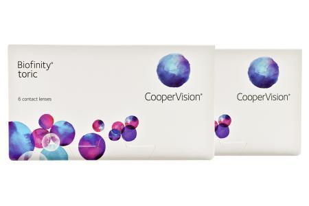 Biofinity toric, 2 x 6 Stück Kontaktlinsen von Cooper Vision
