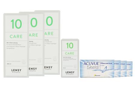 Acuvue Oasys Kontaktlinsen von Johnson & Johnson + Lensy Care 10 Halbjahres-Sparpaket