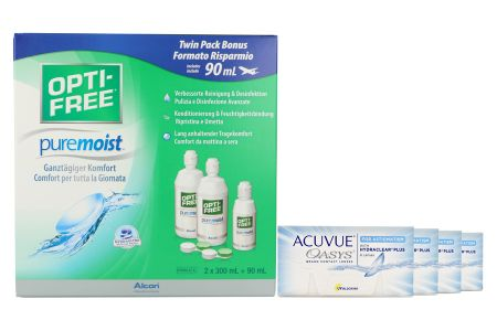Acuvue Oasys for Astigmatism Kontaktlinsen von Johnson & Johnson + Opti Free Pure Moist, Halbjahres-Sparpaket