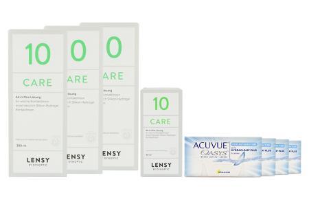 Acuvue Oasys for Astigmatism Kontaktlinsen von Johnson & Johnson + Lensy Care 10 Halbjahres-Sparpaket