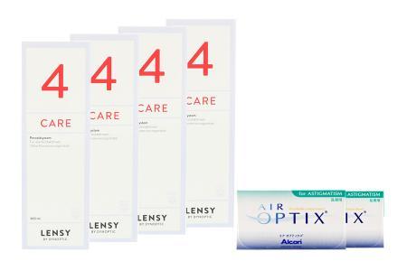 Air Optix for Astigmatism Kontaktlinsen von Ciba Vision & Lensy Care 4, Halbjahres-Sparpaket
