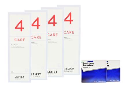Halbjahres-Sparpaket, Pure Vision Kontaktlinsen von Bausch & Lomb + Lensy Care 4