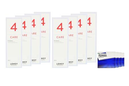 Jahres-Sparpaket, Pure Vision Kontaktlinsen von Bausch & Lomb + Lensy Care 4