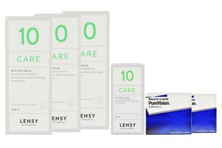 Halbjahres-Sparpaket, Pure Vision Kontaktlinsen von Bausch & Lomb + Lensy Care 10