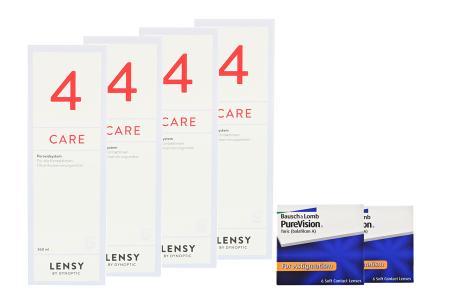 Halbjahres-Sparpaket, Pure Vision Toric Kontaktlinsen von Bausch & Lomb + Lensy Care 4
