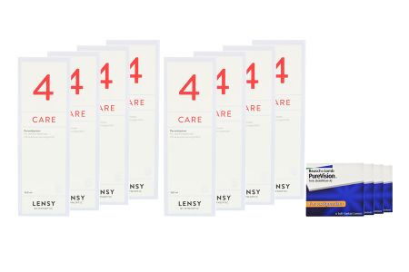 Jahres-Sparpaket, Pure Vision Toric Kontaktlinsen von Bausch & Lomb + Lensy Care 4