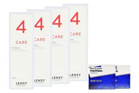 Halbjahres-Sparpaket, Pure Vision Multifocal Kontaktlinsen von Bausch & Lomb + Lensy Care 4