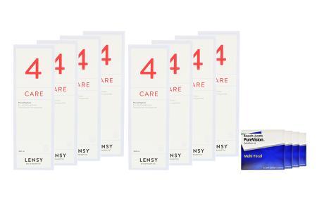 Jahres-Sparpaket, Pure Vision Multifocal Kontaktlinsen von Bausch & Lomb + Lensy Care 4