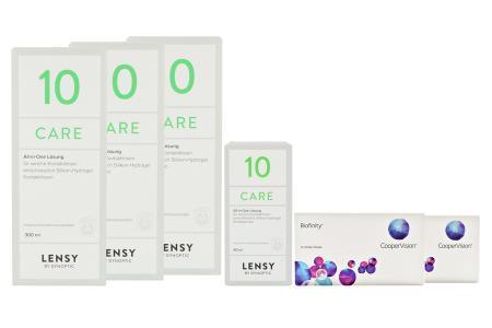 Biofinity 2 x 6 Monatslinsen + Lensy Care 10 Halbjahres-Sparpaket | Biofinity Kontaktlinsen von Cooper Vision & Dynaeasy 19, Halbjahres-Sparpaket, Lensy Care 10