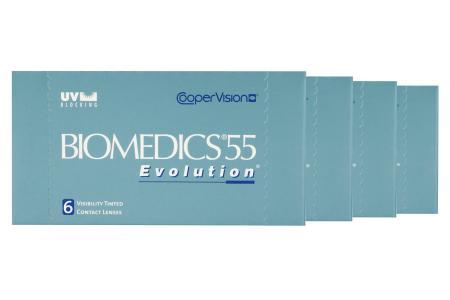 Biomedics 55 Kontaktlinsen von Cooper Vision & Lensy Care 4, Jahres-Sparpaket