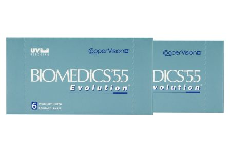 Biomedics 55, 2 x 6 Stück Kontaktlinsen von Cooper Vision