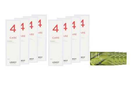 Bios 1-Monat 4 x 6 Monatslinsen + Lensy Care 4 Jahres-Sparpaket | Bios 1-Monat Kontaktlinsen von Conil & Dynaeasy 4, Jahres-Sparpaket, Lensy Care