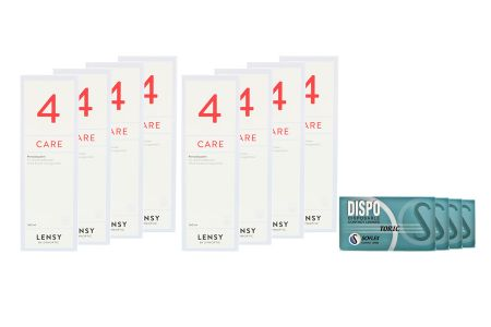 Dispo Toric Kontaktlinsen von Soflex/Conil & Lensy Care 4, Jahres-Sparpaket