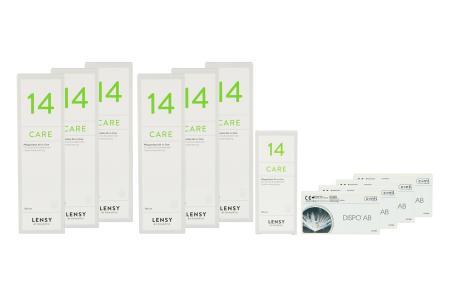 Dispo AB Kontaktlinsen von Conil & Lensy Care 14, Jahres-Sparpaket