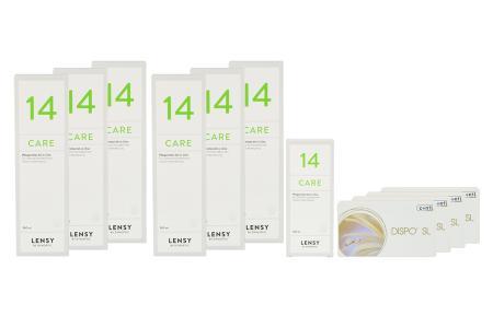 Dispo SL Kontaktlinsen von Conil & Lensy Care 14, Jahres-Sparpaket