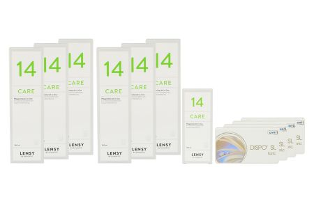 Dispo SL Toric Kontaktlinsen von Conil & Lensy Care 14, Jahres-Sparpaket