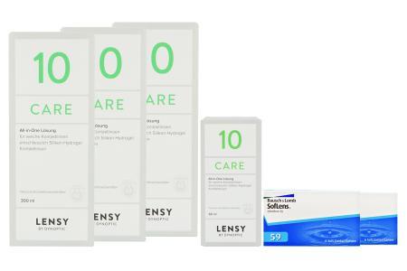 SofLens 59 Kontaktlinsen von Bausch&Lomb & Lensy Care 10, Halbjahres-Sparpaket