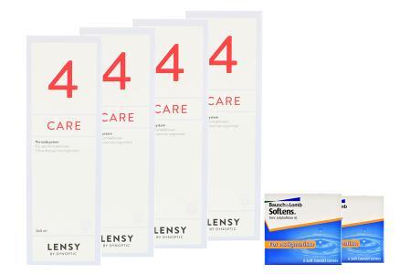 SofLens 66 Toric Kontaktlinsen von Bausch&Lomb & Lensy Care 4, Halbjahres-Sparpaket