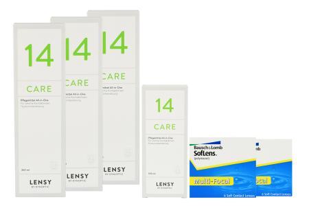 SofLens Multifokal Kontaktlinsen von Bausch&Lomb & Lensy Care 14, Halbjahres-Sparpaket