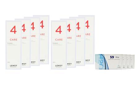 Extreme H2O 59 Xtra Kontaktlinsen von Hydrogel Vision Corp. &  Lensy Care 4, Jahres-Sparpaket