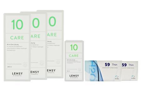 Extreme H2O 59 Thin Kontaktlinsen von Hydrogel Vision Corp. & Lensy Care 10 Halbjahres-Sparpaket