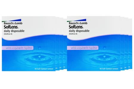 SofLens daily disposable Kontaktlinsen von Bausch & Lomb, Sparpaket 12 Monate 2 x 360 Stück