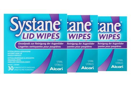 Systane® Lid Wipes 3x30 vorbefeuchtete Pads