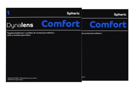 Dynalens 1 Comfort Kontaktlinsen von Dynoptic, Sparpaket 3 Monate 2 x 90 Stück
