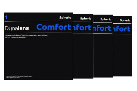 Dynalens 1 Comfort 4 x 90 Tageslinsen Sparpaket 6 Monate | Dynalens 1 Comfort Kontaktlinsen von Dynoptic, Sparpaket 6 Monate 4 x 90 Stück, Dynalens 1 Comfort spheric