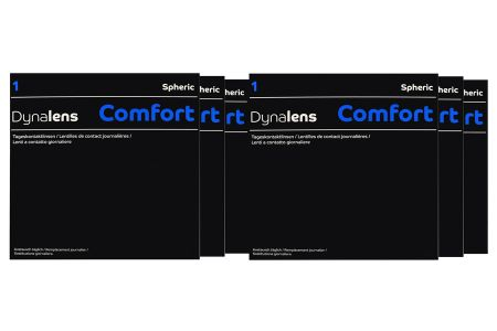 Dynalens 1 Comfort 6 x 90 Tageslinsen Sparpaket 9 Monate | Dynalens 1 Comfort Kontaktlinsen von Dynoptic, Sparpaket 9 Monate 6 x 90 Stück, Dynalens 1 Comfort spheric