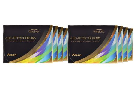 Air Optix Colors, 8 x 2 Stück neue farbige Kontaktlinsen von Ciba Vision / Alcon