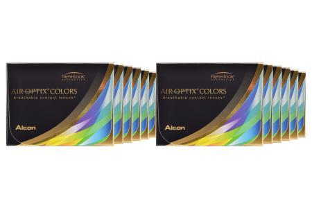 Air Optix Colors, 12 x 2 Stück neue farbige Kontaktlinsen von Ciba Vision / Alcon