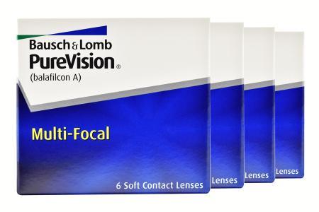 Pure Vision Multifocal, 4 x 6 Stück Kontaktlinsen von Bausch & Lomb