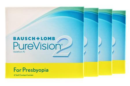 Pure Vision 2 For Presbyopia, 4 x 6 Stück Kontaktlinsen von Bausch & Lomb