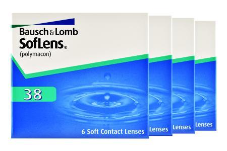 SofLens 38, 4 x 6 Stück Kontaktlinsen von Bausch & Lomb