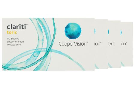 Clariti toric, 4 x 6 Stück torische Kontaktlinsen