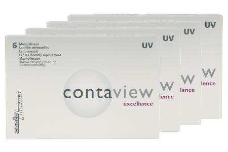 Contaview excellence UV, 4 x 6 Stück Kontaktlinsen von Contopharma