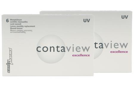 Contaview excellence UV, 2 x 6 Stück Kontaktlinsen von Contopharma