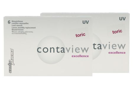 Contaview excellence toric UV 2 x 6 Monatslinsen